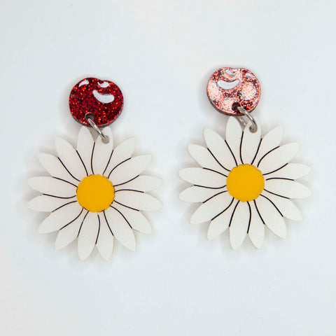 Cherry and Daisy Earrings
