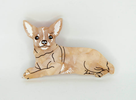 Chucky the Chihuahua Brooch