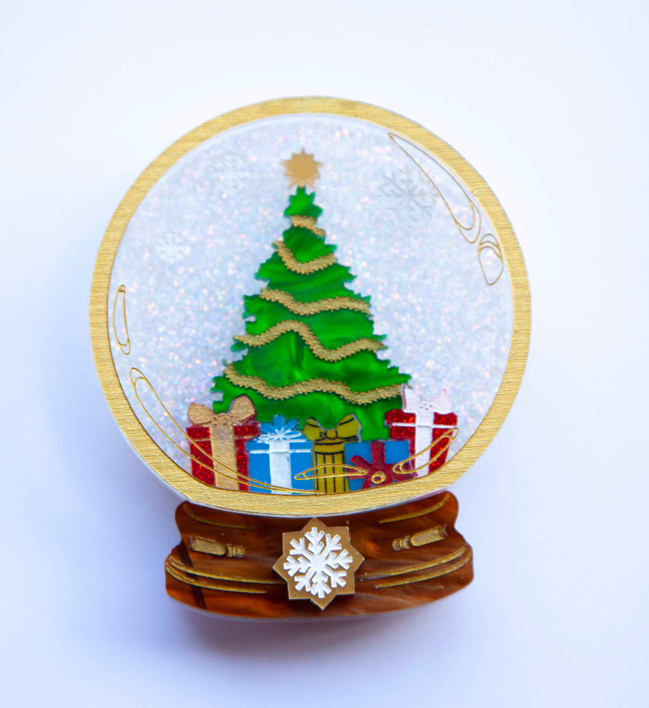 White Christmas Brooch