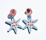 Coral's Starfish Earrings