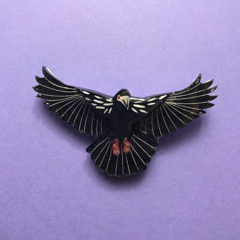 The Winged Accomplice Brooch