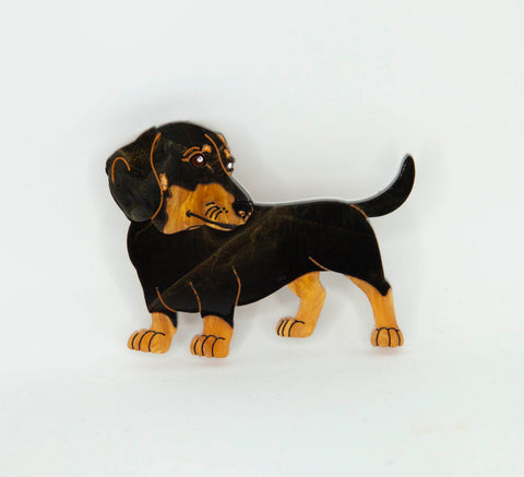 Frankie the Dachshund Brooch