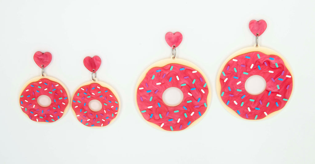 Dainty Donut earrings ~ BOTH SIZES