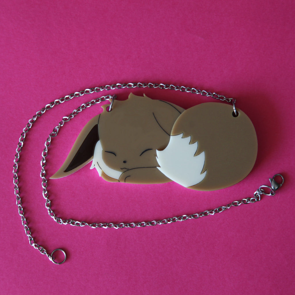 Sleeping Eevee Necklace