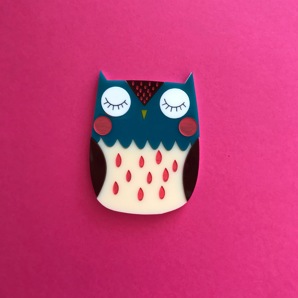 Otis the Owl Brooch