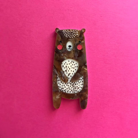 Billy the Bear Brooch