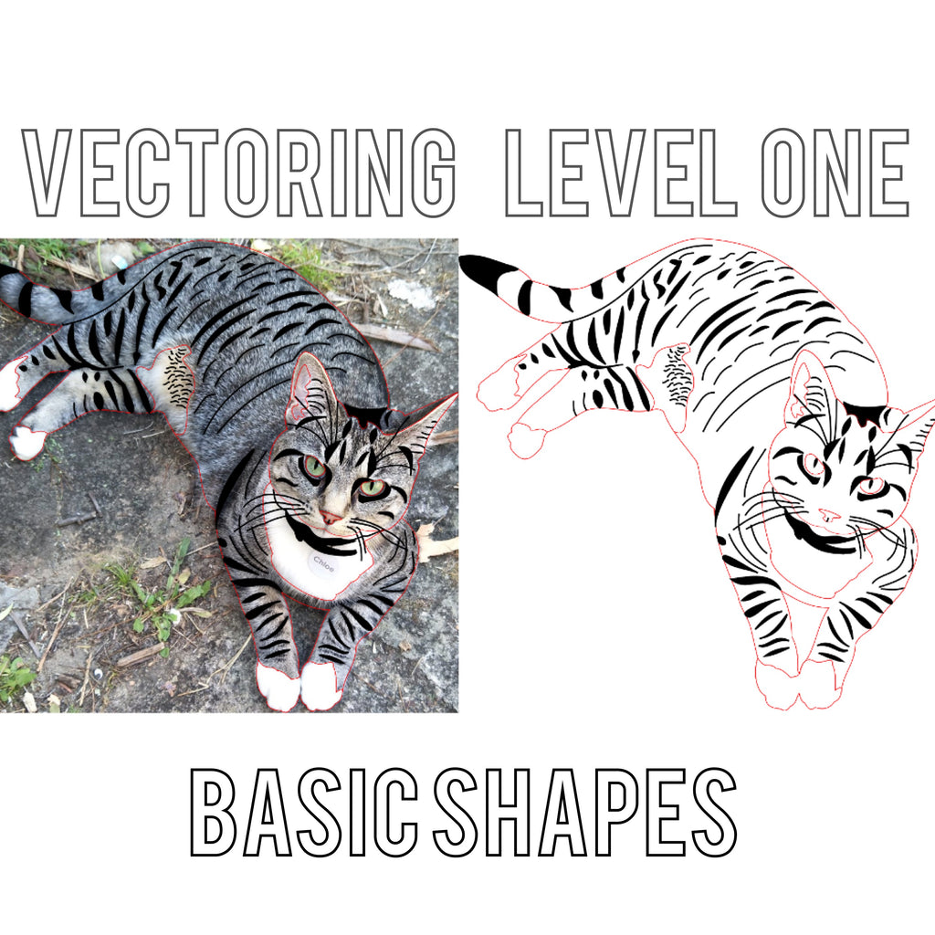 Vectoring Level 1 - Basic Shapes (ie: hearts, speech bubbles, banners)