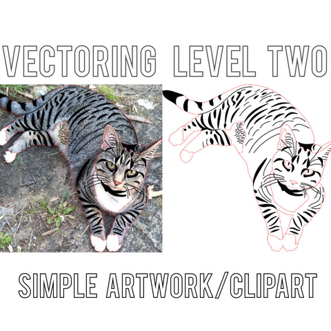 Vectoring Level 2  – Simple artwork/clipart