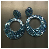 Amber's Mod Hoops ~ Glitter Colours