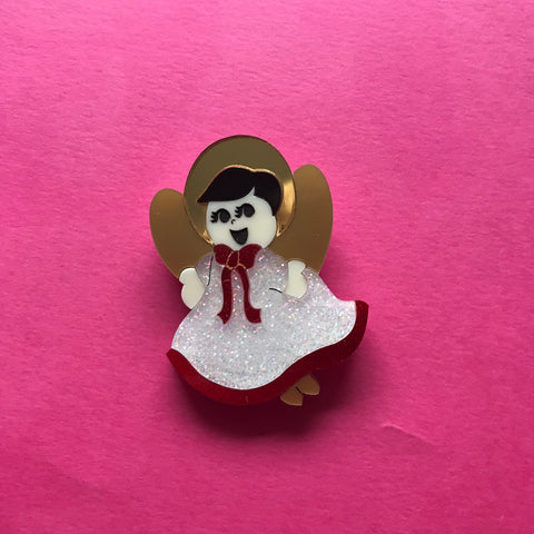Christmas Angel Brooch