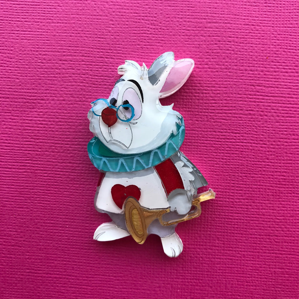 White Rabbit brooch 1