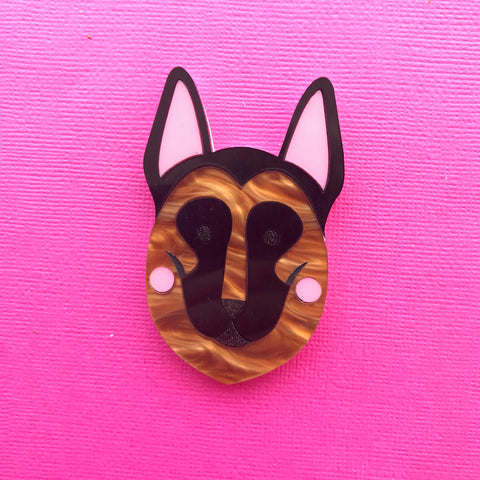 German Shepherd Brooch