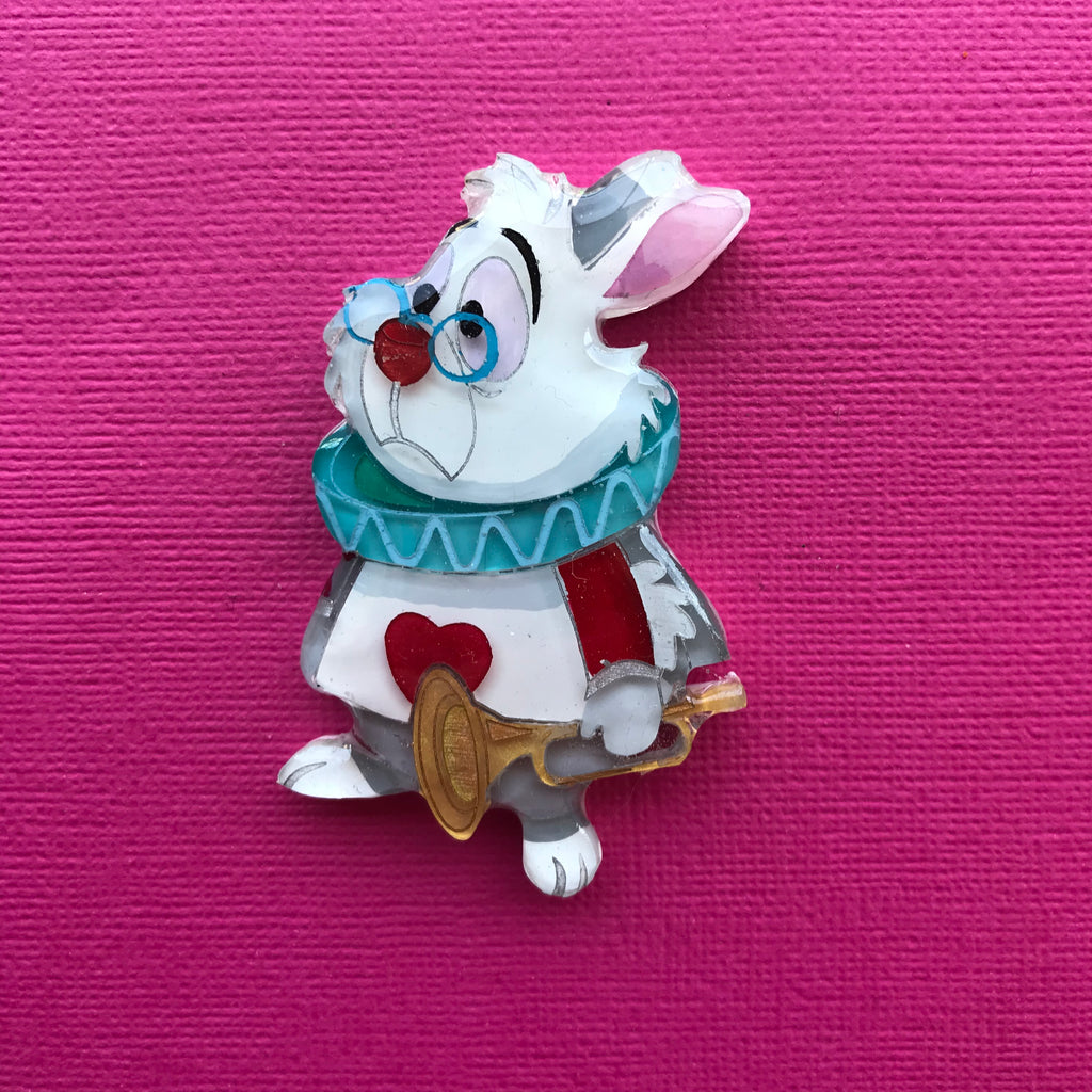 White Rabbit brooch 3