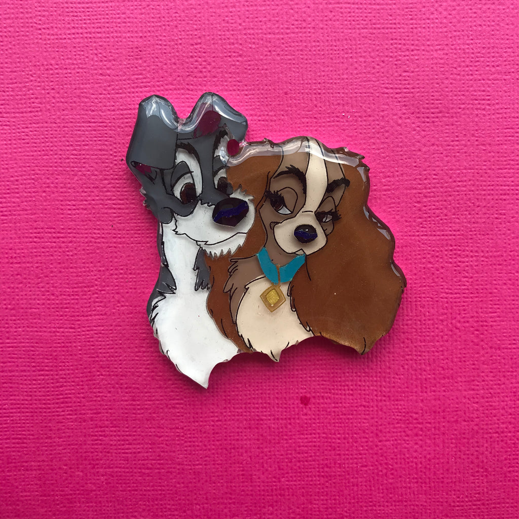 Lady & The Tramp Brooch