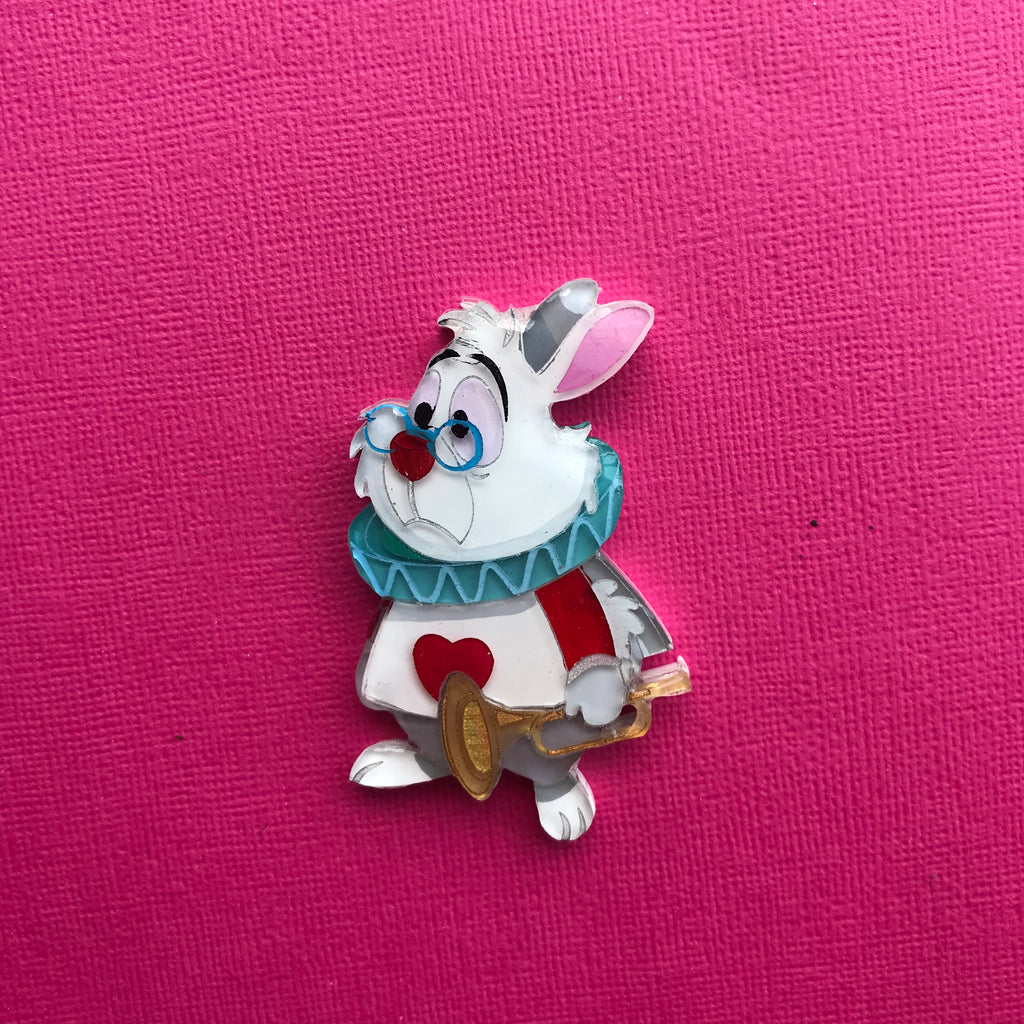 White Rabbit Brooch 6