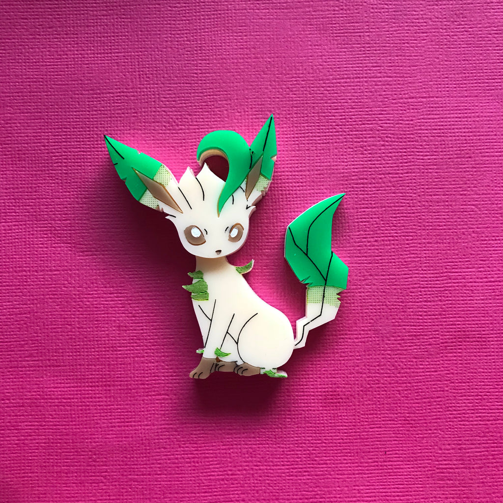 Leafeon Brooch