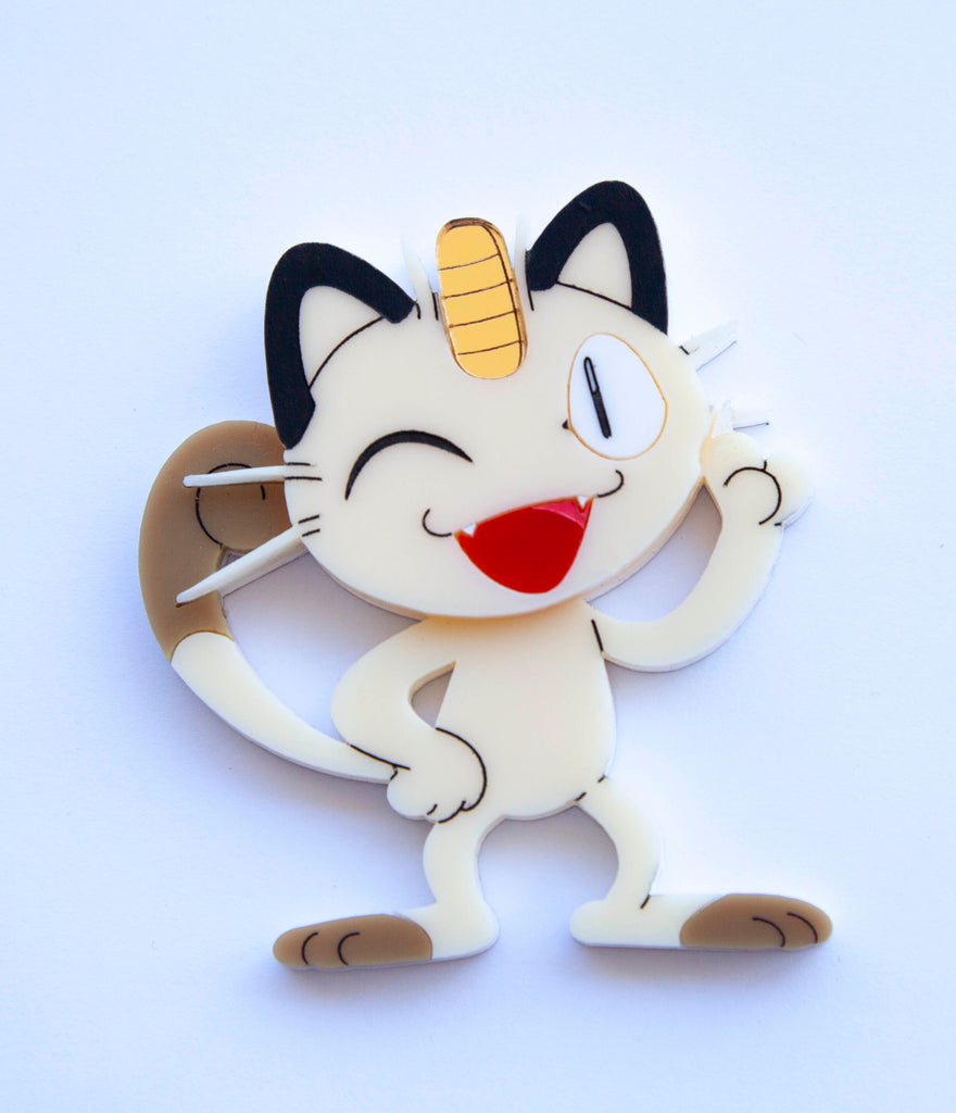 Meowth Brooch