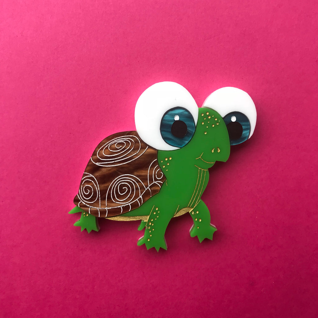 Tilly the Turtle Brooch