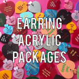 Earring Acrylic Package 1 - 2 acrylics