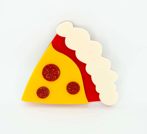 Pepperoni Pizza Brooch