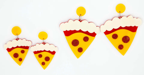 Pepperoni Pizza earrings ~ BOTH SIZES