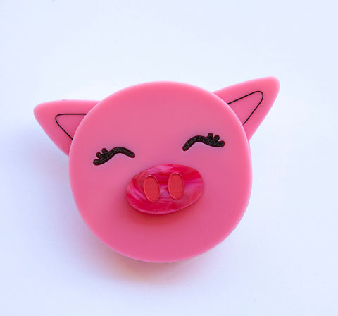 Polly Pig Brooch