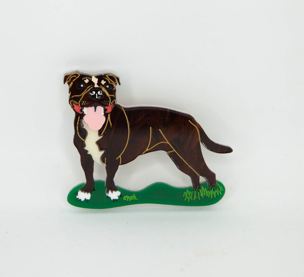 Uther the Australian Staffy Brooch
