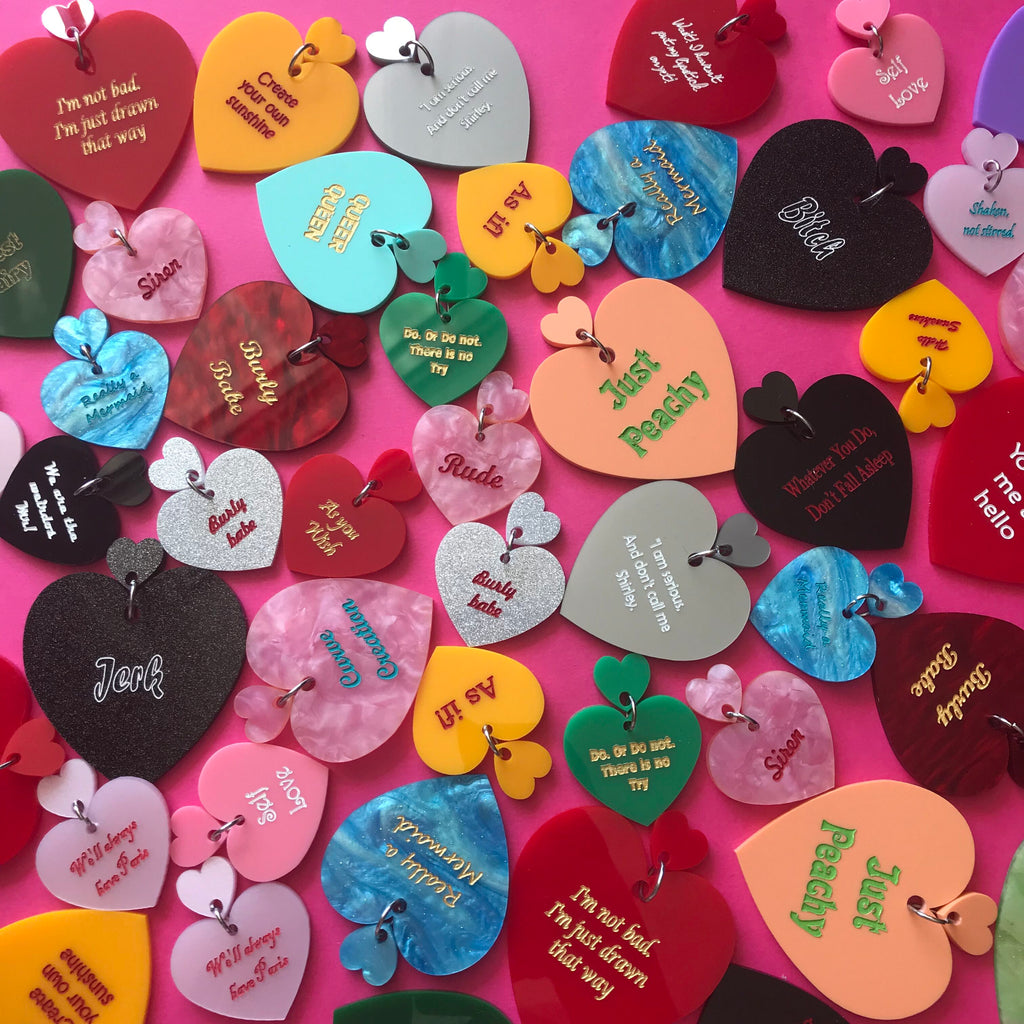 Custom Text Statement Hearts