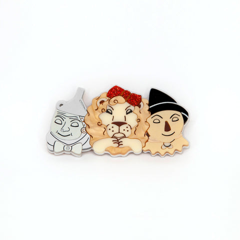 Tinman, Lion & Scarecrow Brooch