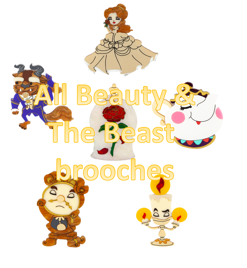 All Beauty & The Beast Brooches