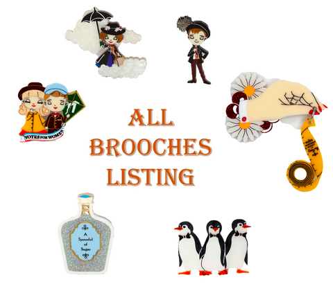 All Mary Poppins Brooches