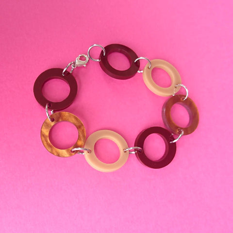 Penny '60s Bracelet - Brown, Caramel and Coffee