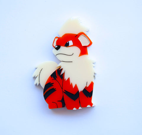 Growlithe Brooch