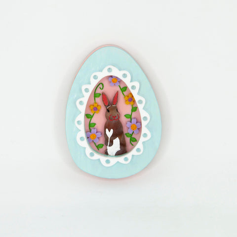 Easter Egg Bunny Brooch 2021 Colourway