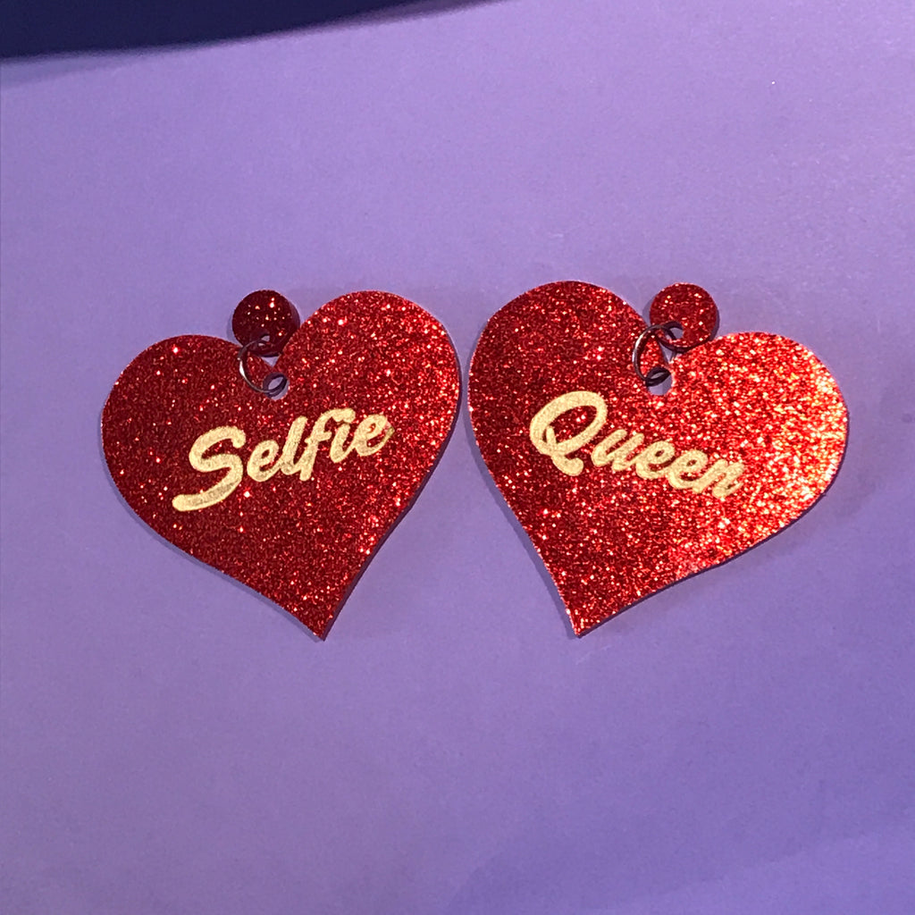 Selfie Queen Heart Earrings