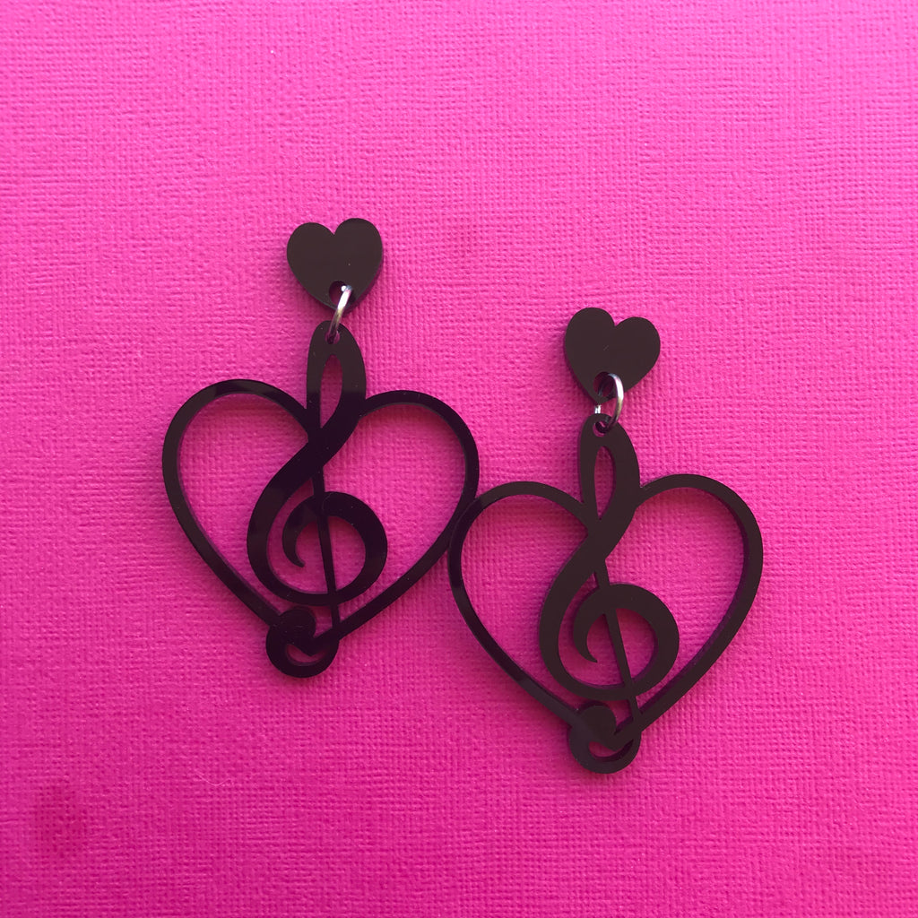 Treble Heart Dangles
