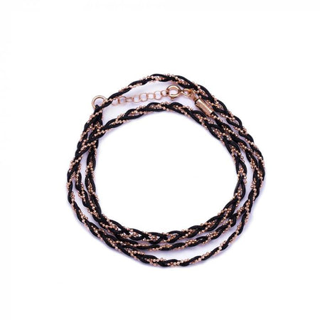 B Squad Brown Knitted Bracelet