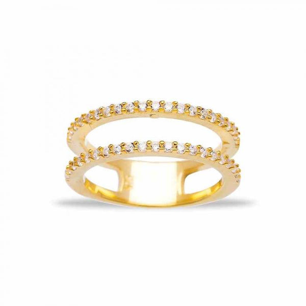 Gold Simple Double Ring