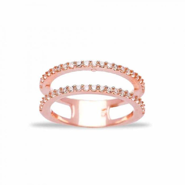 Rose Simple Double Ring