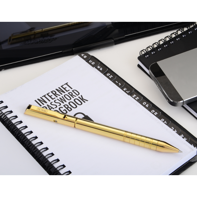 Helic Pen on Notebook, Copper Plated