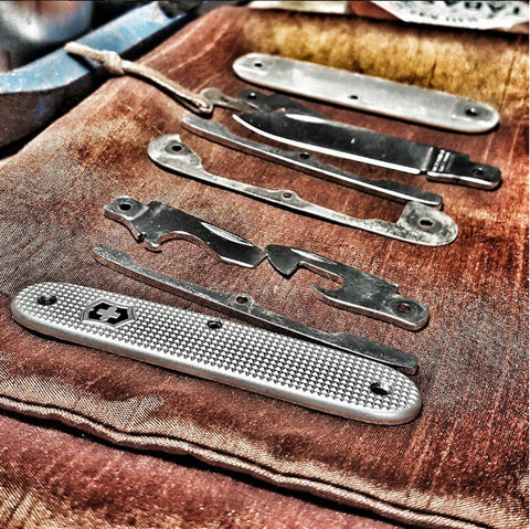 Everyday Knife Guy Disassembled Swiss Army Knife