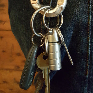 Stainless Steel Key Safe Keychain Cache on Carabiner