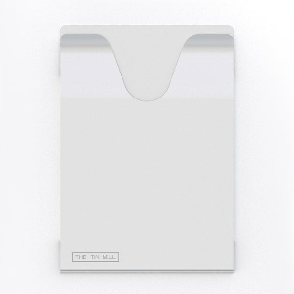 Durable Passport Hardback Silver Aluminum for RFID Protection Front View