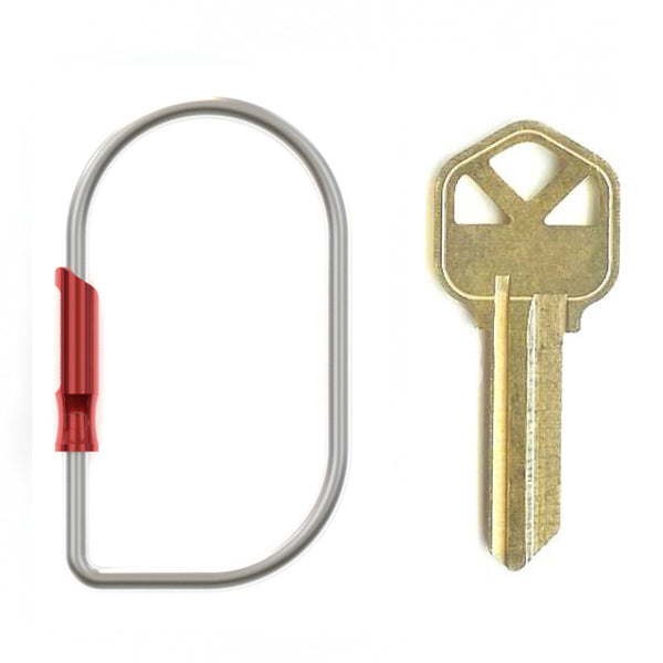 Spring Key Ring, Red & Silver