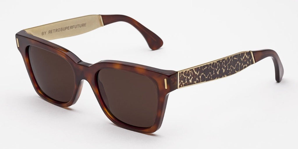 RetroSuperFuture Sunglasses America Francis Leopard