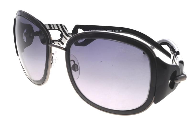 Roberto Cavalli Sunglasses Dalia black / white black striped detail RC 517S 08B