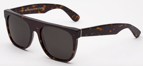 RetroSuperFuture Sunglasses Flat Top Havana