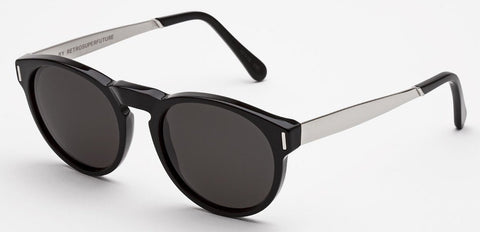 RetroSuperFuture Sunglasses Paloma Silver Francis Black