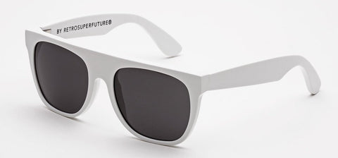 RetroSuperFuture Sunglasses Flat Top White