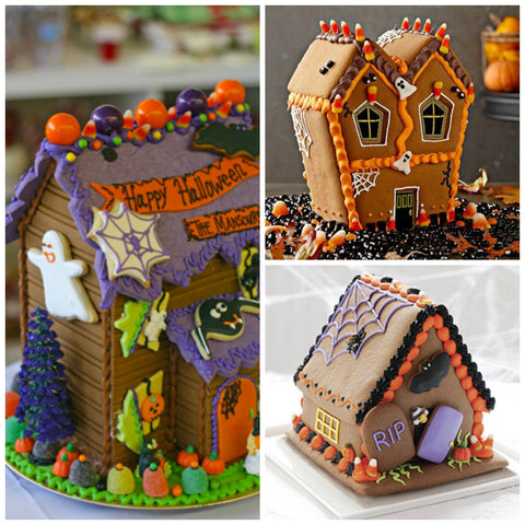 Cute and delicious ginger bread houses for halloween